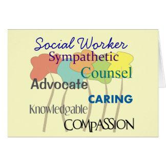 Tarjeta de felicitación del asistente social