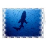 Tarjeta de felicitación del ataque del tiburón