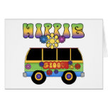 Tarjeta de felicitación del autobús del Hippie