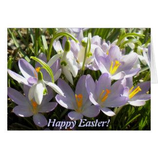 Tarjeta de felicitación del azafrán de Pascua