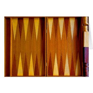 Tarjeta de felicitación del backgammon