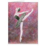 Tarjeta de felicitación del ballet - cisne negro