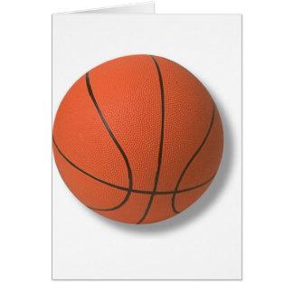 Tarjeta de felicitación del baloncesto