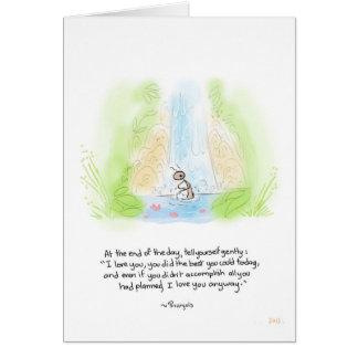 Tarjeta de felicitación del baño de la hormiga