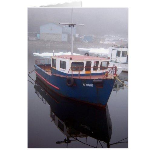 Tarjeta de felicitación del barco del tirón