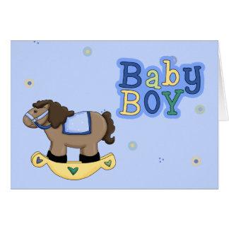Tarjeta de felicitación del bebé del caballo meced