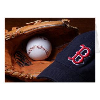 Tarjeta de felicitación del béisbol