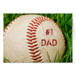 Tarjeta de felicitación del béisbol del papá #1