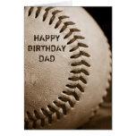 Tarjeta de felicitación del béisbol del papá del f