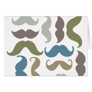 Tarjeta de felicitación del bigote