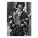 Tarjeta de felicitación del bombero del bombero