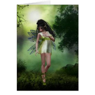 Tarjeta de felicitación del bosque de hadas