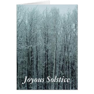 Tarjeta de felicitación del bosque del solsticio