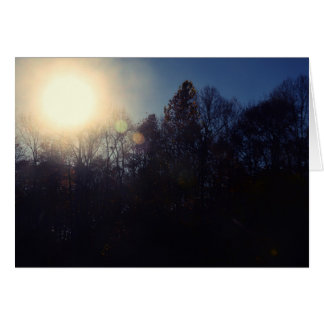 Tarjeta de felicitación del bosque negro
