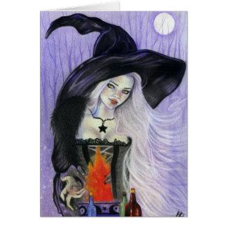 Tarjeta de felicitación del Brew de Witchs