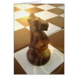 Tarjeta de felicitación del caballero del ajedrez