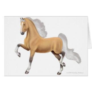 Tarjeta de felicitación del caballo de Saddlebred