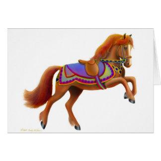 Tarjeta de felicitación del caballo del circo