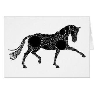 Tarjeta de felicitación del caballo del Dressage