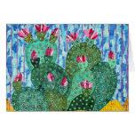 Tarjeta de felicitación del cactus de Beavertail