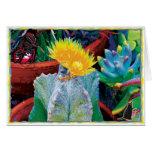Tarjeta de felicitación del cactus de Caliente