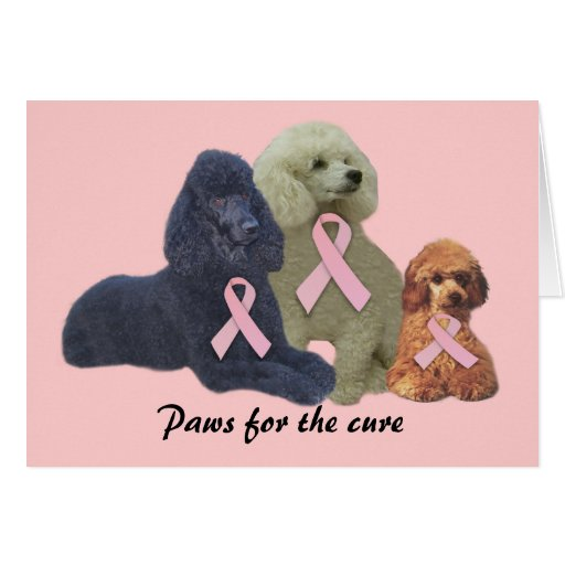 Tarjeta de felicitación del cáncer de pecho del ca