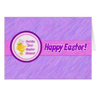 Tarjeta de felicitación del capo de Pascua