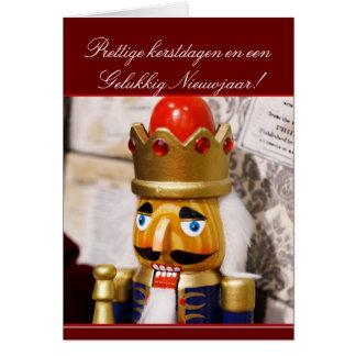 Tarjeta de felicitación del cascanueces del navida