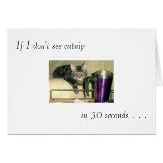 """Tarjeta de felicitación del """"Catnip"""""""