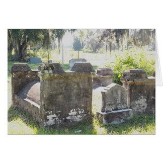 Tarjeta de felicitación del cementerio de la