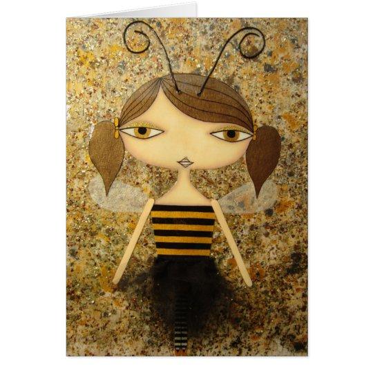 """¡""""Tarjeta de felicitación del chica de la abeja de"""