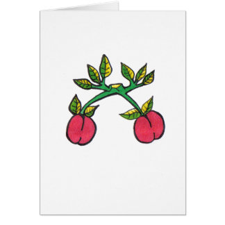 Tarjeta de felicitación del choque de la cereza……