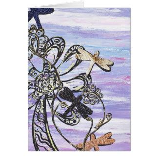 Tarjeta de felicitación del cielo de la libélula