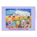 Tarjeta de felicitación del circo