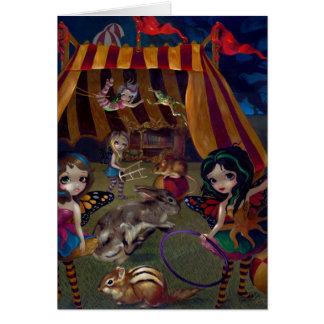 """Tarjeta de felicitación del """"circo de hadas"""""""