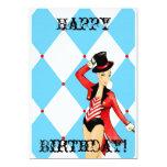 Tarjeta de felicitación del circo invitación 12,7 x 17,8 cm