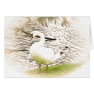 Tarjeta de felicitación del cisne del Riverbank