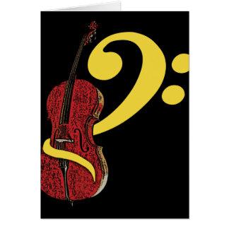 Tarjeta de felicitación del Clef del violoncelo