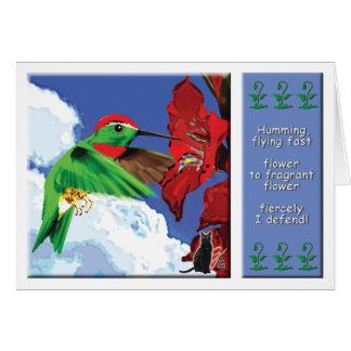 Tarjeta de felicitación del colibrí