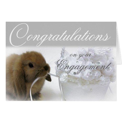 Tarjeta de felicitación del compromiso