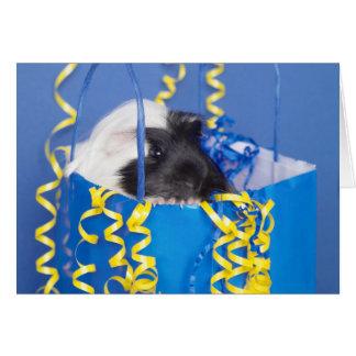 Tarjeta de felicitación del conejillo de Indias de