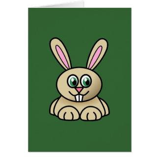 Tarjeta de felicitación del conejito de Brown pasc
