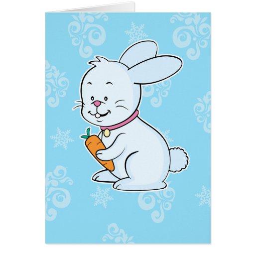 Tarjeta de felicitación del conejo