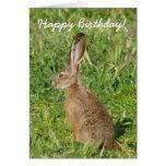 Tarjeta de felicitación del conejo de Jack del fel