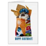 Tarjeta de felicitación del conejo del cumpleaños