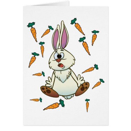 Tarjeta de felicitación del conejo del dibujo anim