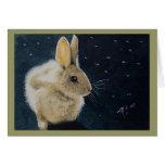 Tarjeta de felicitación del conejo del invierno