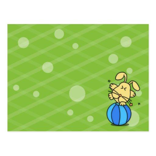 tarjeta de felicitación del conejo postal