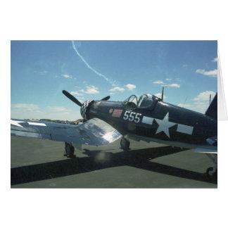 Tarjeta de felicitación del corsario F4U-1