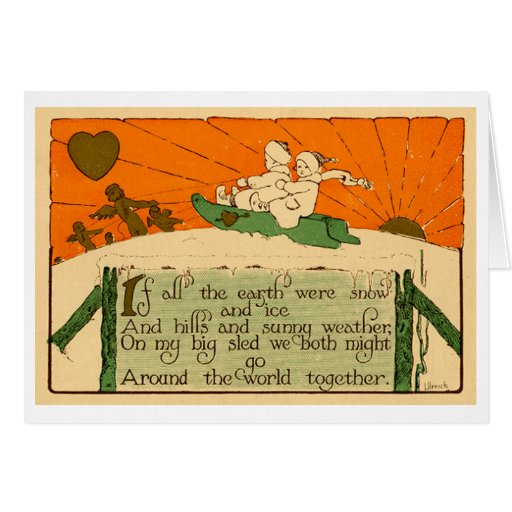 Tarjeta de felicitación del cortejo (1911)